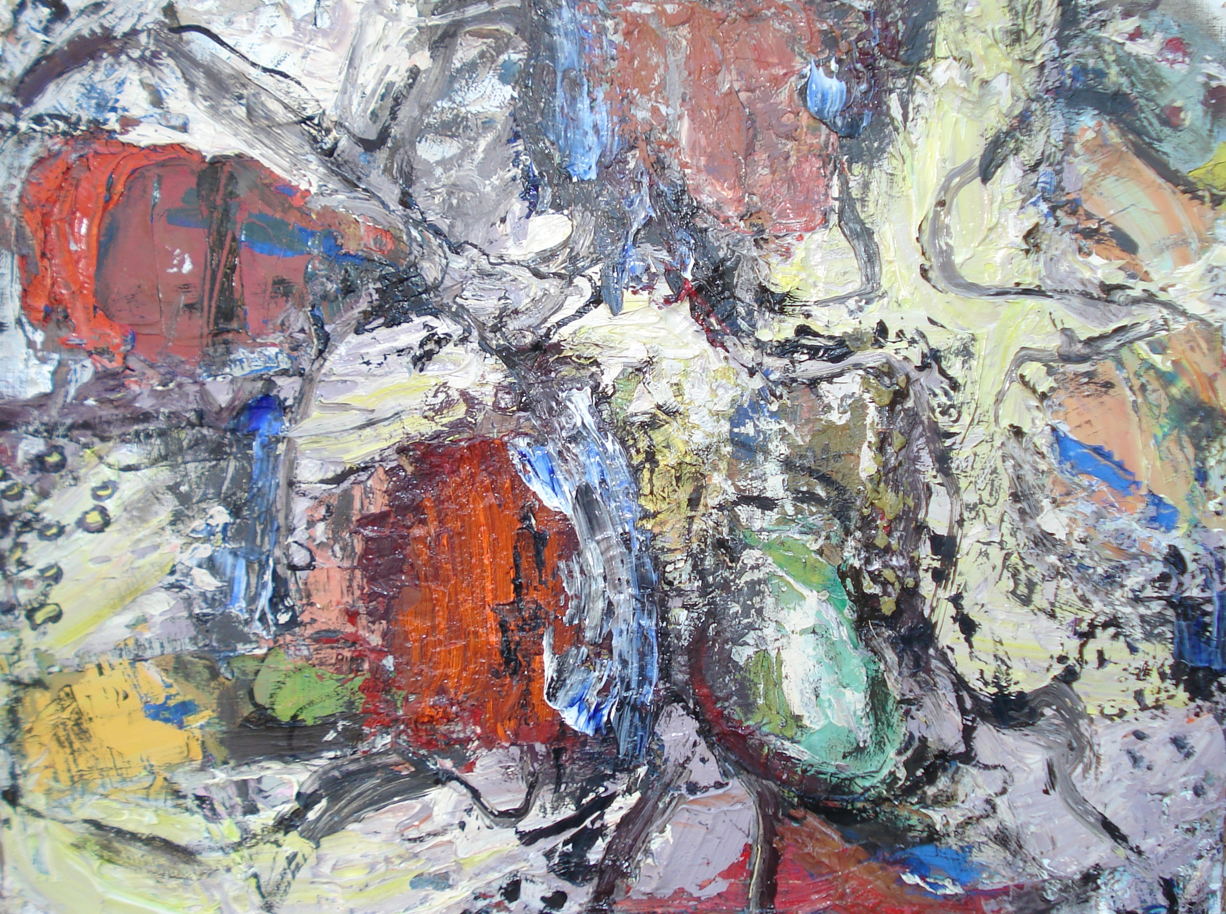 """Small Painting 41A  oil on paper, 12""""H X 16""""W (2015)"""