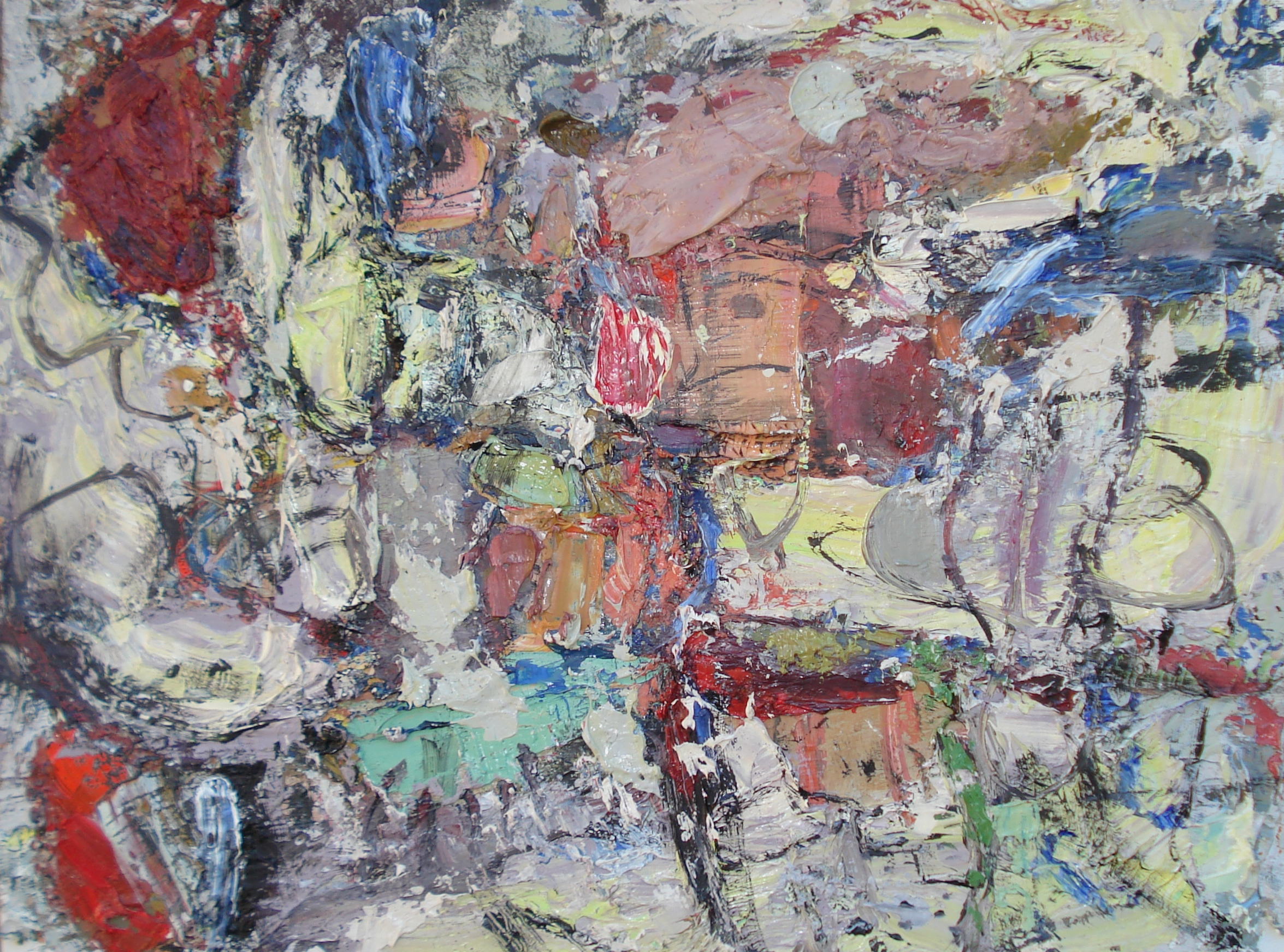"""Small Painting 42A  oil on paper, 12""""H X 16""""W (2015)"""