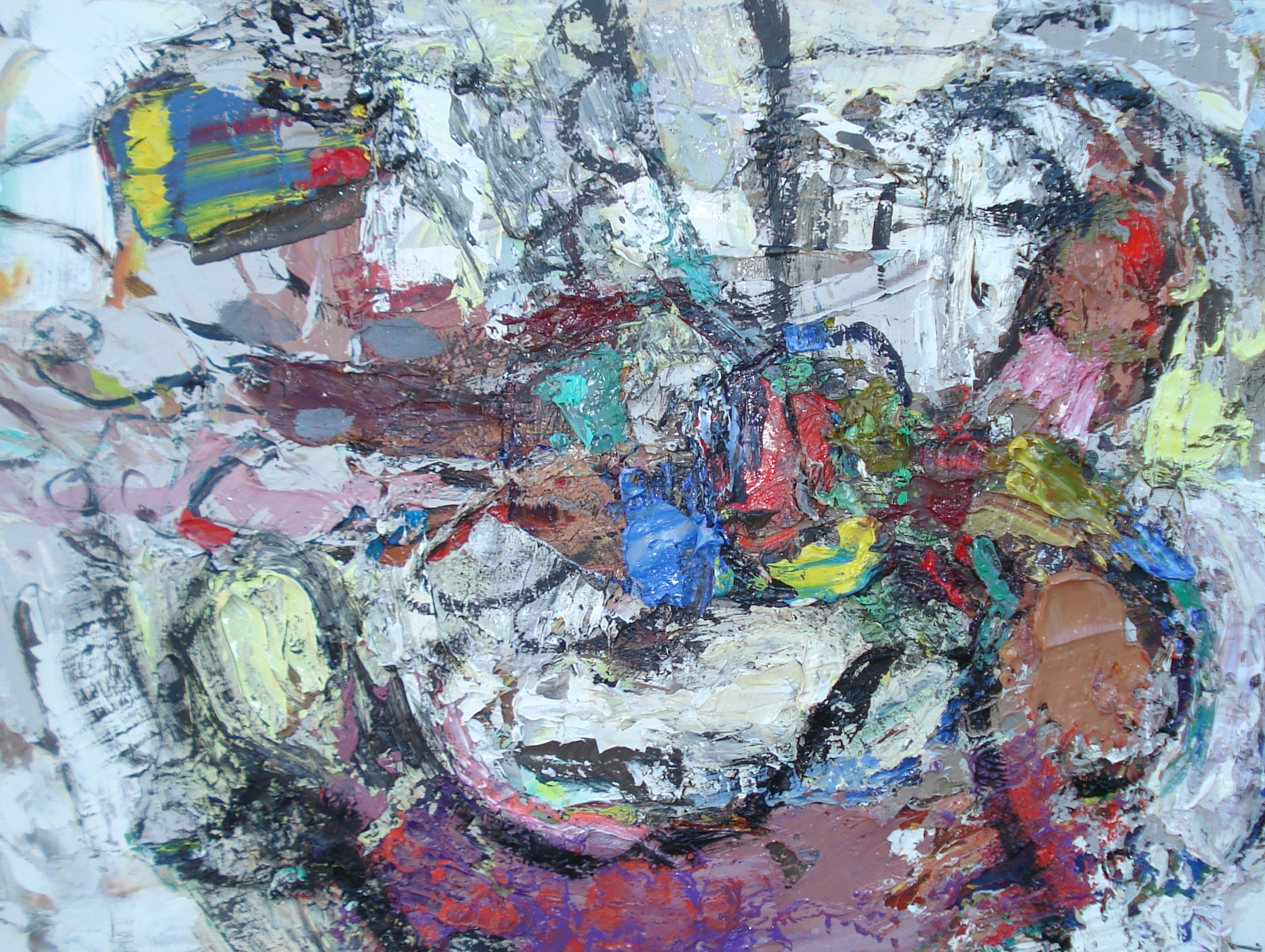"""Small Painting 39A  oil on paper, 12""""H X 16""""W (2015)"""