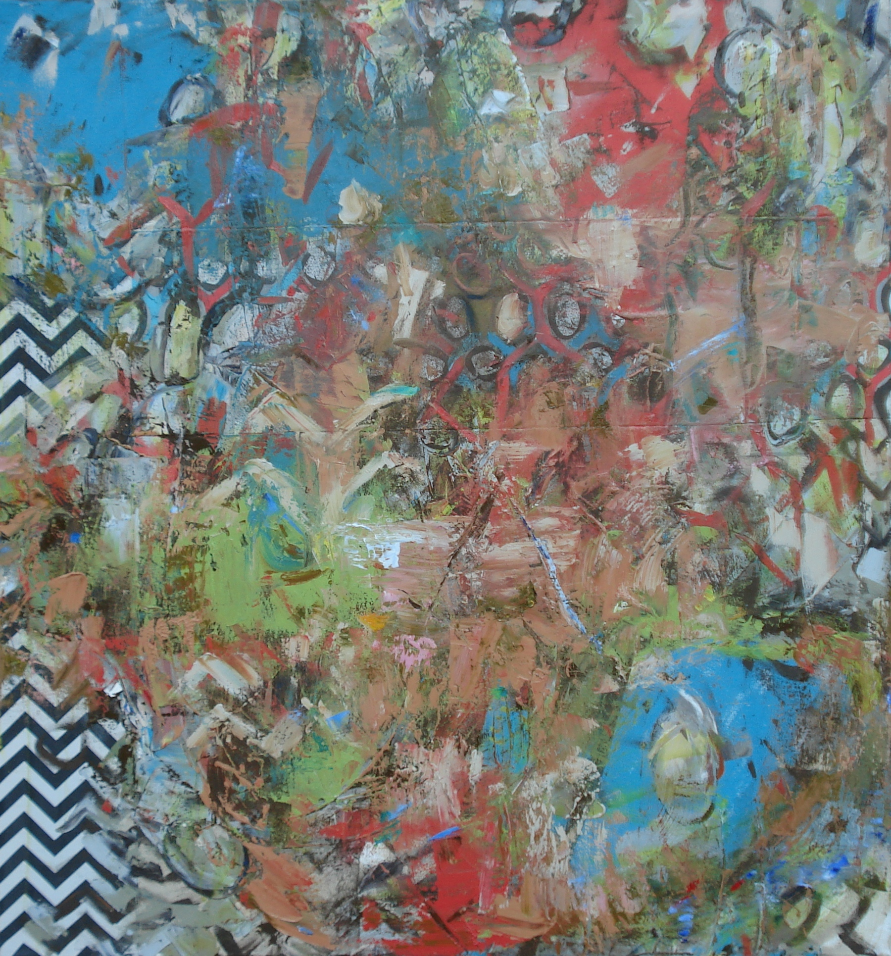 """Wiggle-Wiggle, oil on canvas 60""""H X 56""""W"""