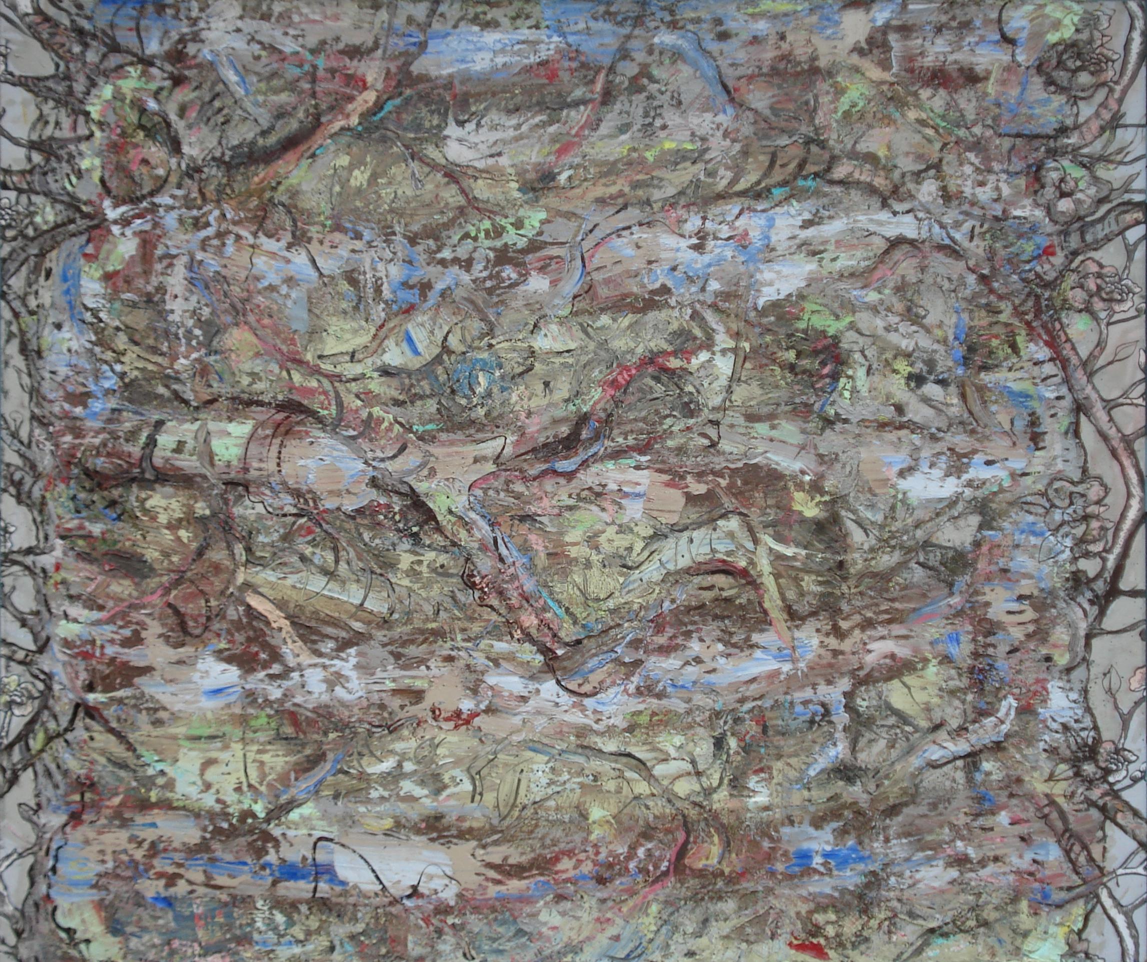 "Landscape II,  oil on canvas 54""H X 64""W (2016)"