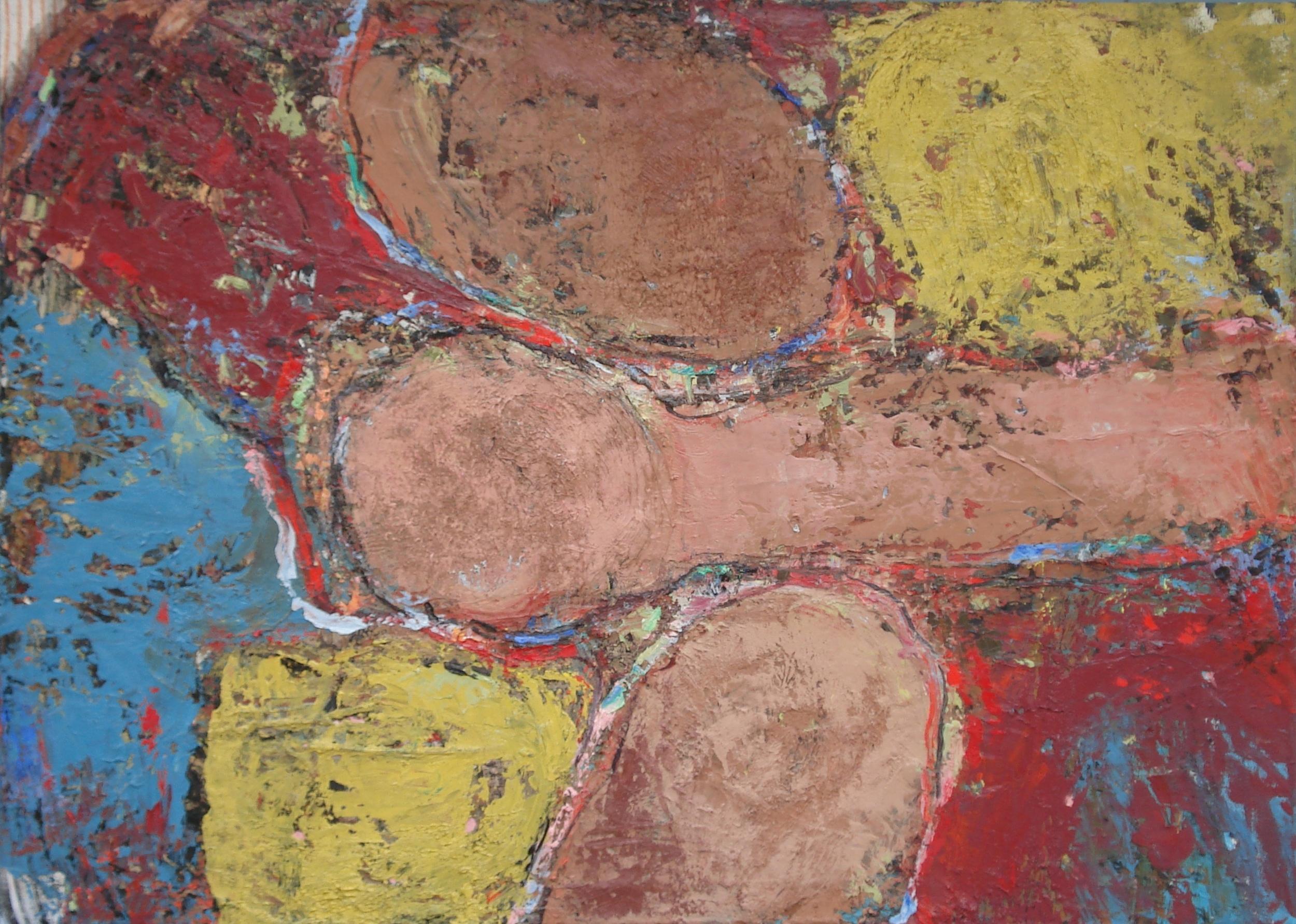"Mingle,  oil on canvas 40""H X 56""W (2016)"