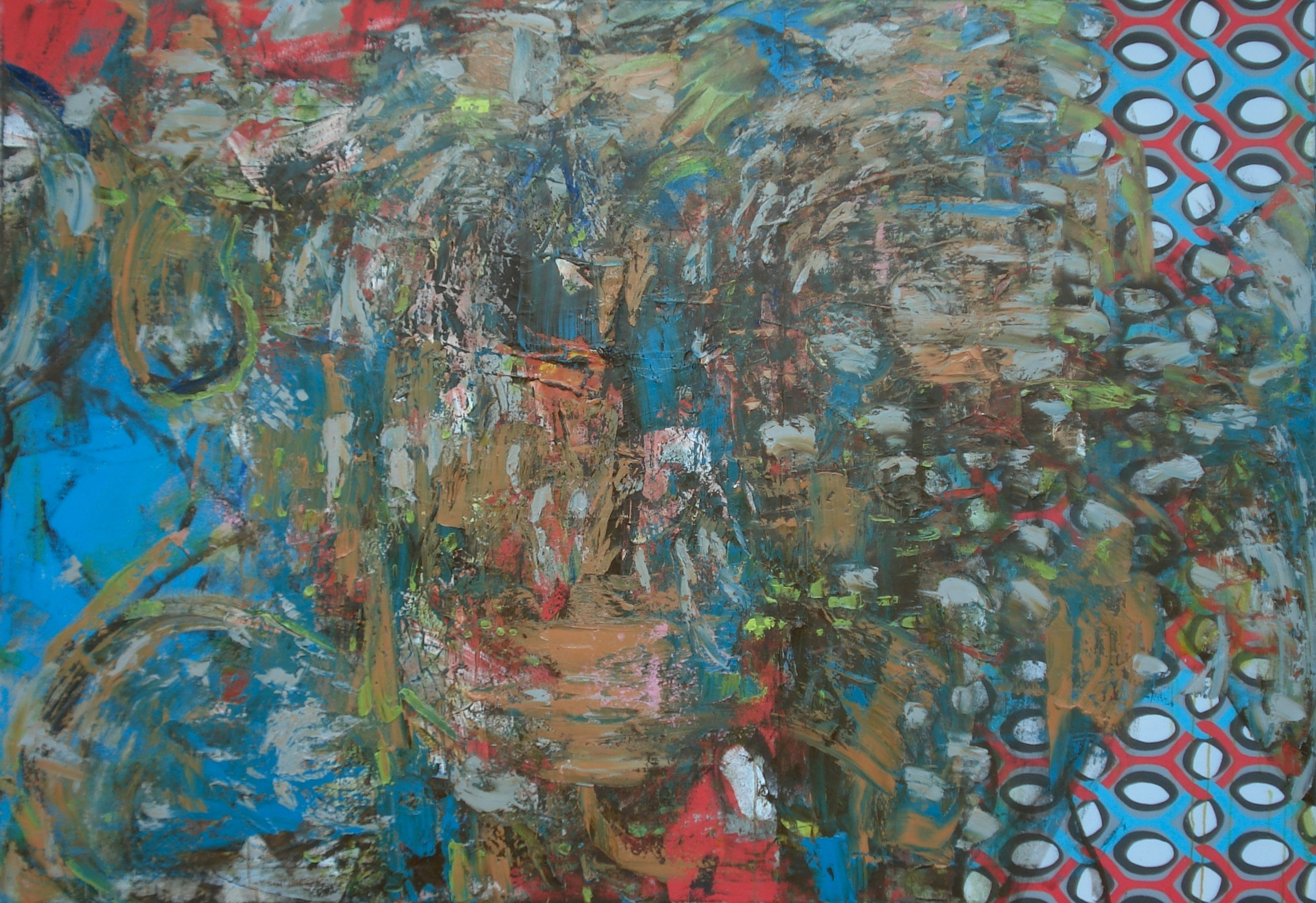 "Winter 2015,  oil on canvas 50""H X 72""W (2015)"