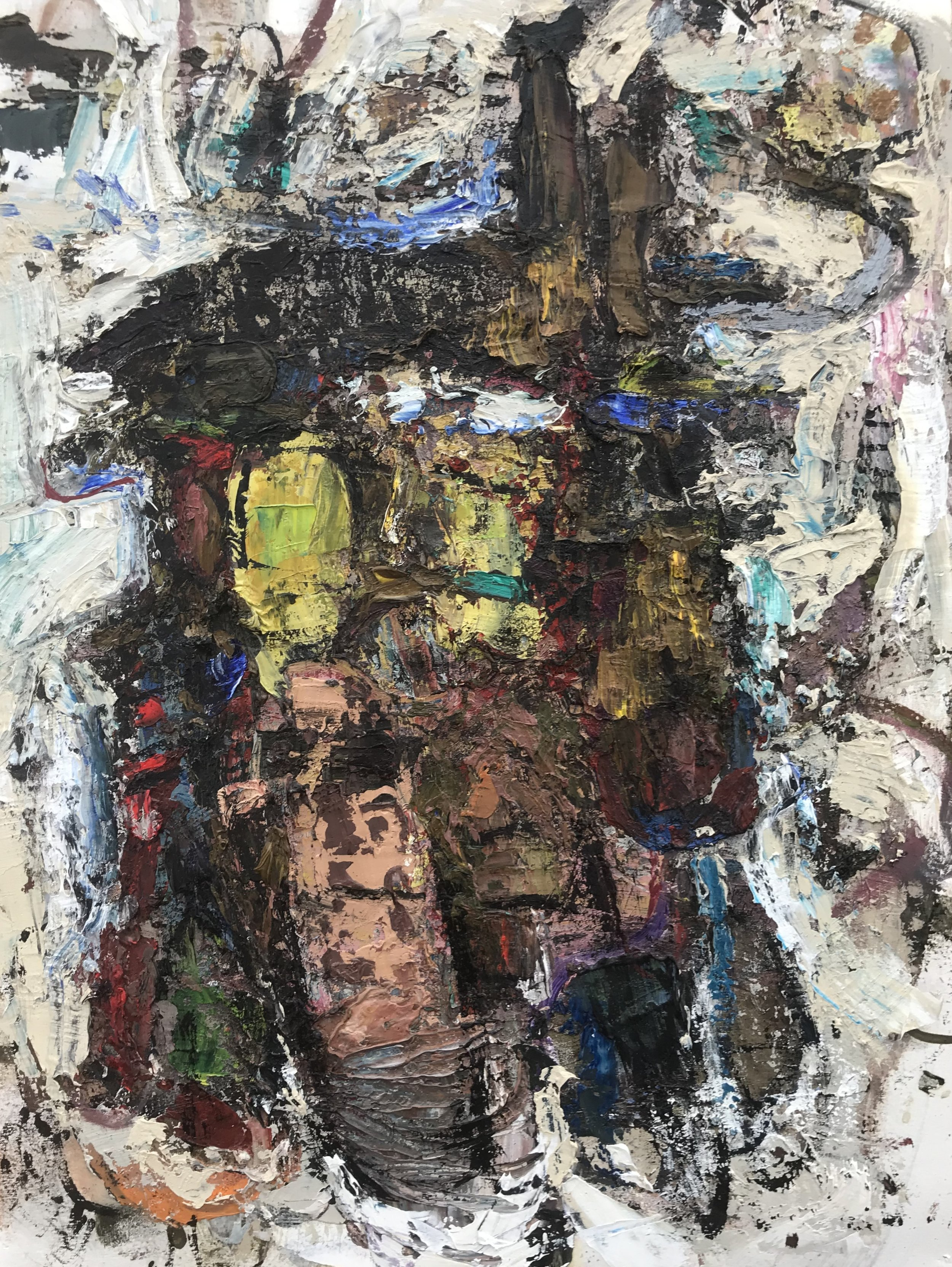 """Small Painting 11B,  oil on paper 24""""H X 18""""W (2018)"""