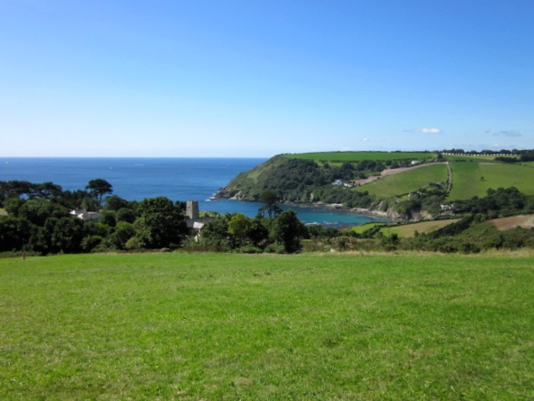 The view from the coast path over Talland Bay