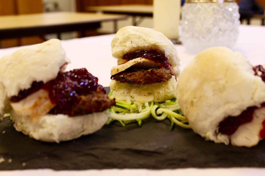 Turkey and cranberry sliders