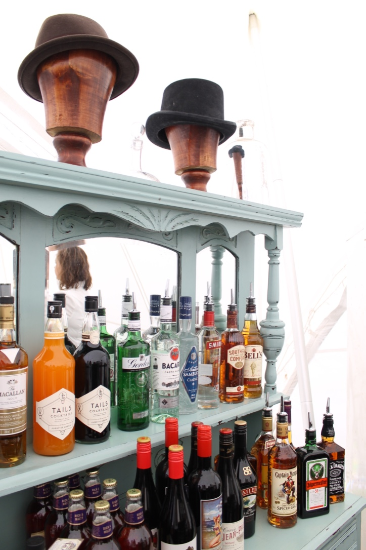 Our vintage bar working hard at last summer's weddings!