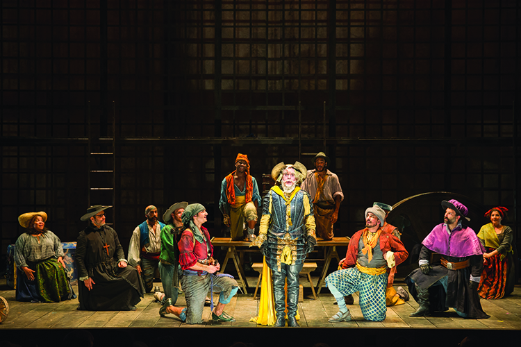 Anthony Warlow and the full company