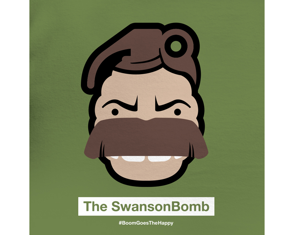 Day 15: The SwansonBomb | Designed with Phil Davis