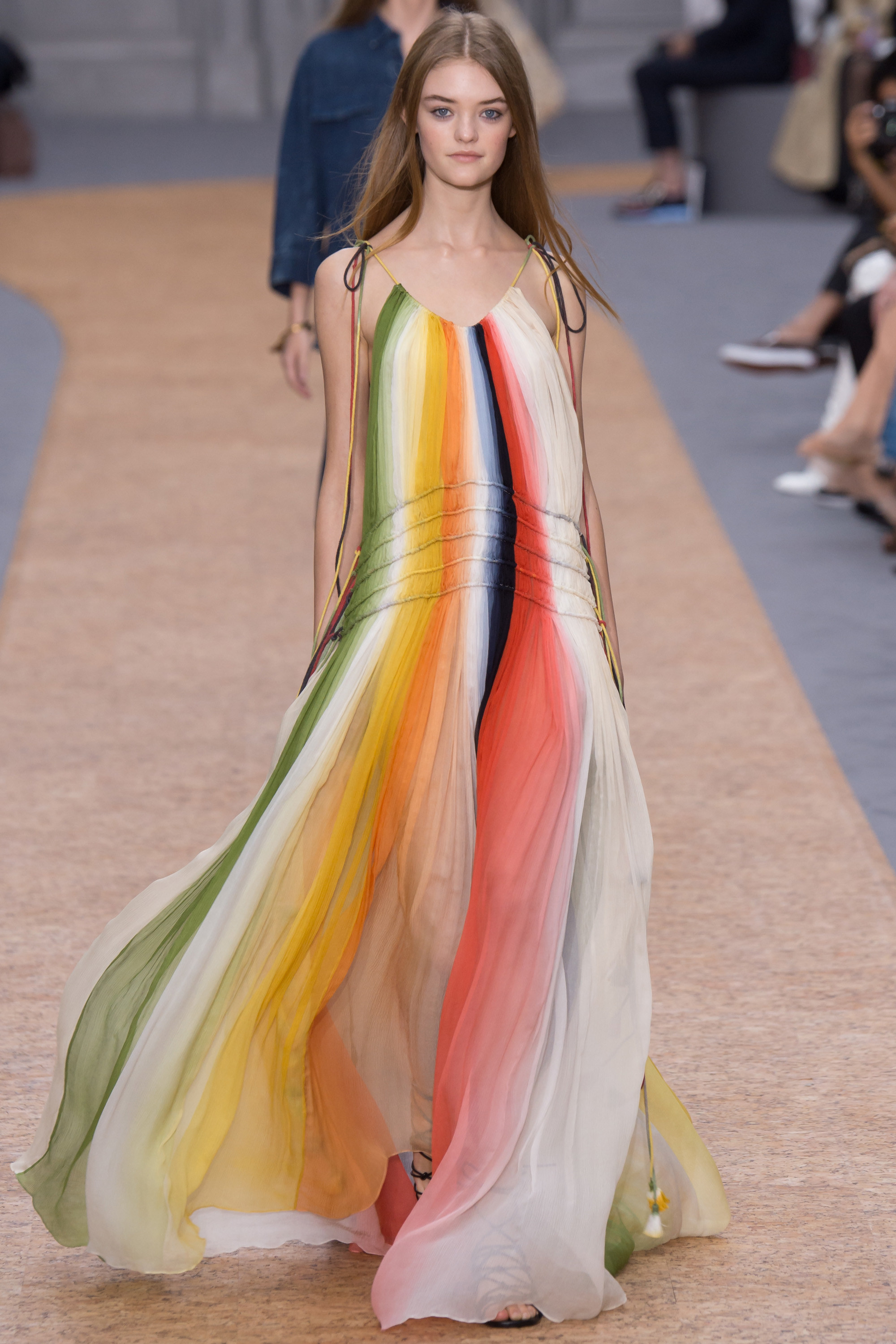 """Chloe    Colorful, flowy, and fabulous…oh my! This dress definitely screams 'summer!""""."""