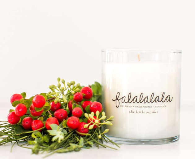 TheLittleMakret.com hosts these amazing soy blend holiday candles by Prosperity Candles. Every purchase helps support female refugees in the United States. All candles are hand-poured with wax that is GMO-free, vegan, biodegradable, non-toxic, kosher and not tested on animals and contains an all-natural wick made from unbleached cotton. 24 scents available!
