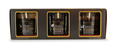 This gift set contains Wedderspoon's three top-selling gourmet honeys: Wild Rata, Beechwood and Wild Dandelion. The set is perfect for your daredevil friends who want to try it all.
