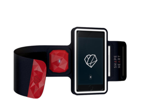 Kickstarter introduces an armband with a built-in heart-rate monitor. The monitor measures your upper arm pulse, to increase efficiency during workouts and also has a magnetic feature so you can conveniently pop your phone out.