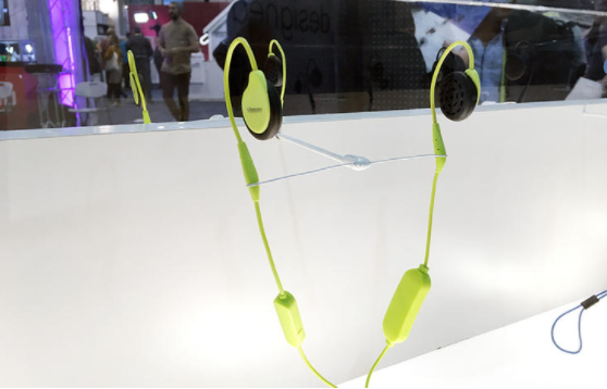Originally designed for snowboarders and skiers, Versafit's Wireless Sport headphones fit over the ears without blocking outside sound. These headphones are also ideal for runners that want to stay aware of their surroundings