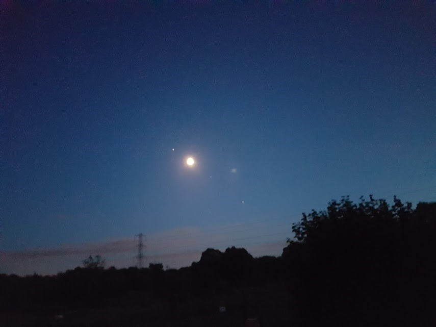 The Moon, Mars and Saturn with ISS pass by WAS members Chris and Anne