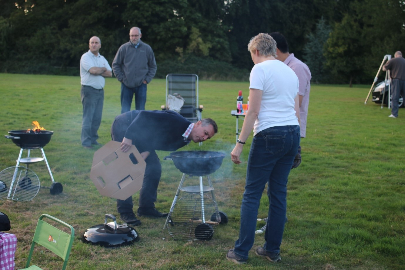 Getting the BBQ's going. Photo by WAS member Carole