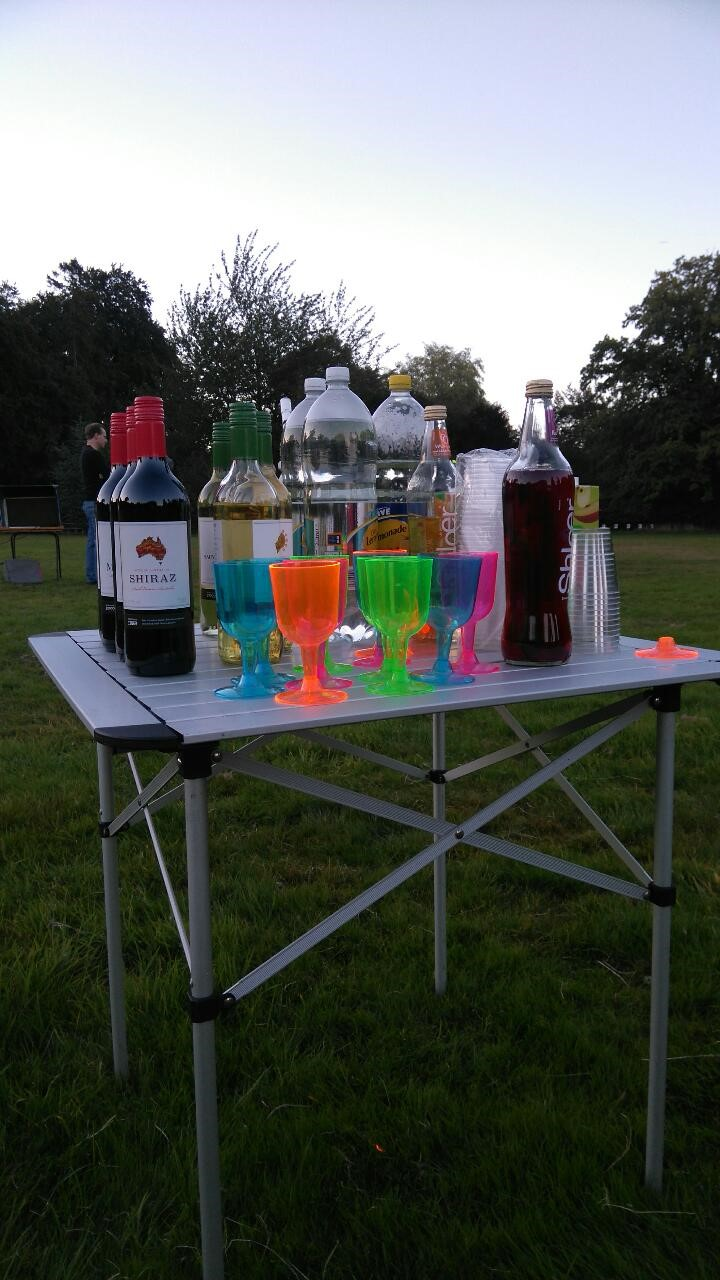 Drinks table ready