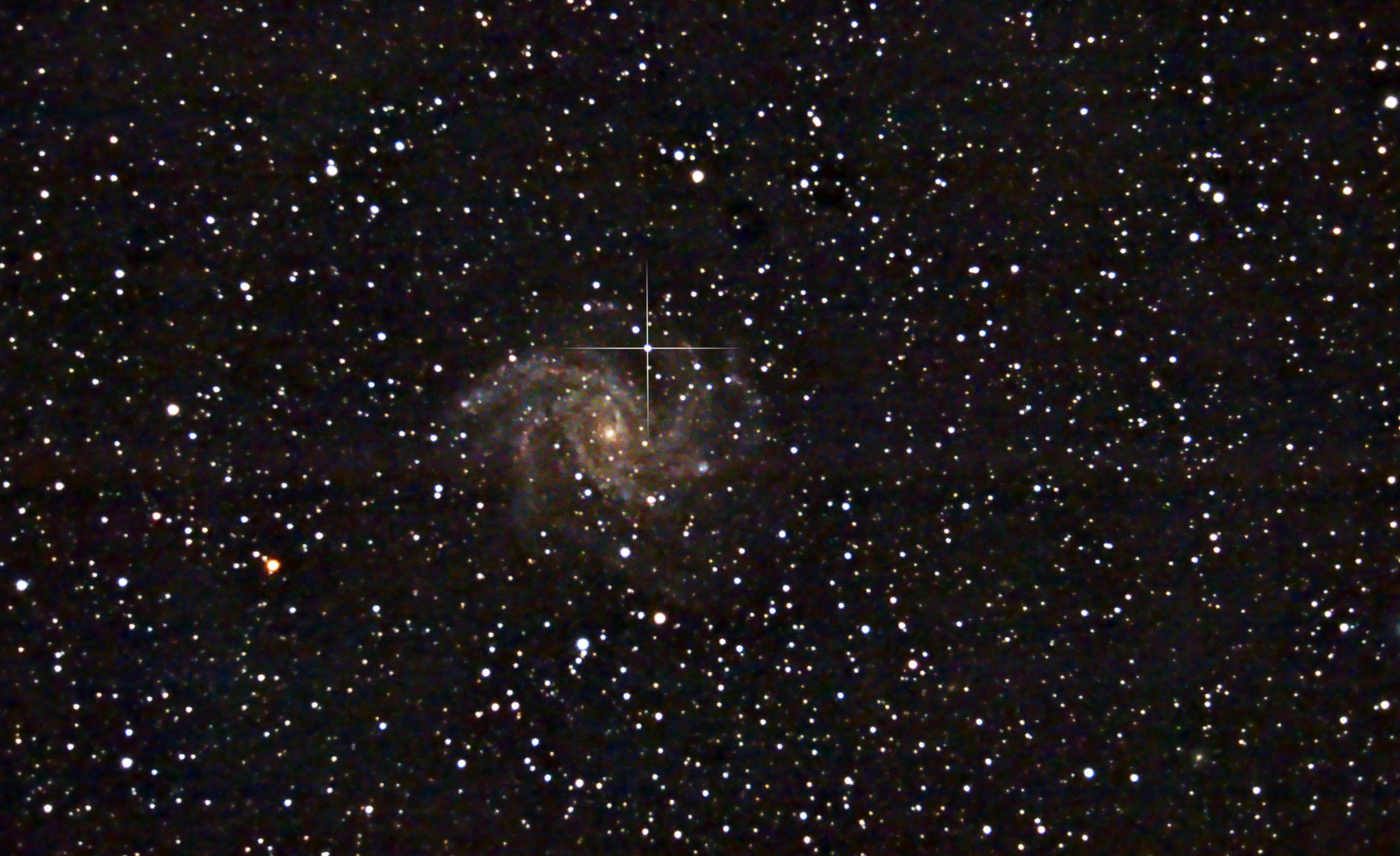 Fireworks Galaxy with Supernova