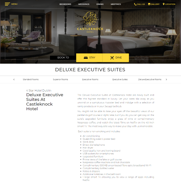 Deluxe Executive Suite Description -