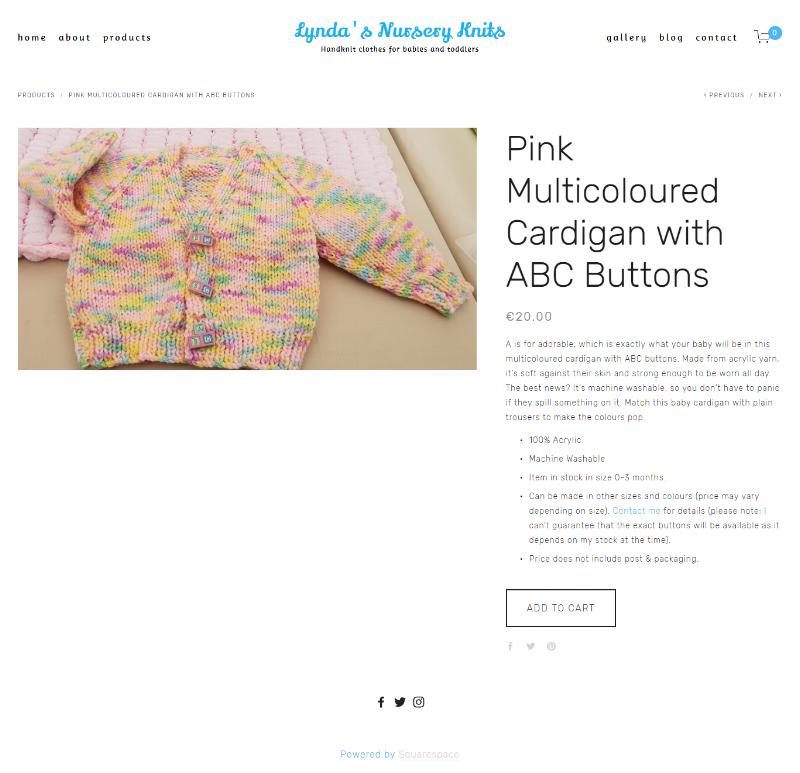 Pink Multicoloured Cardigan -