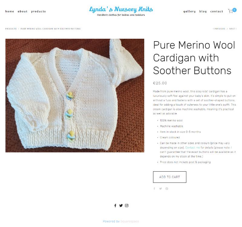 Pure Merino Wool Cardigan -