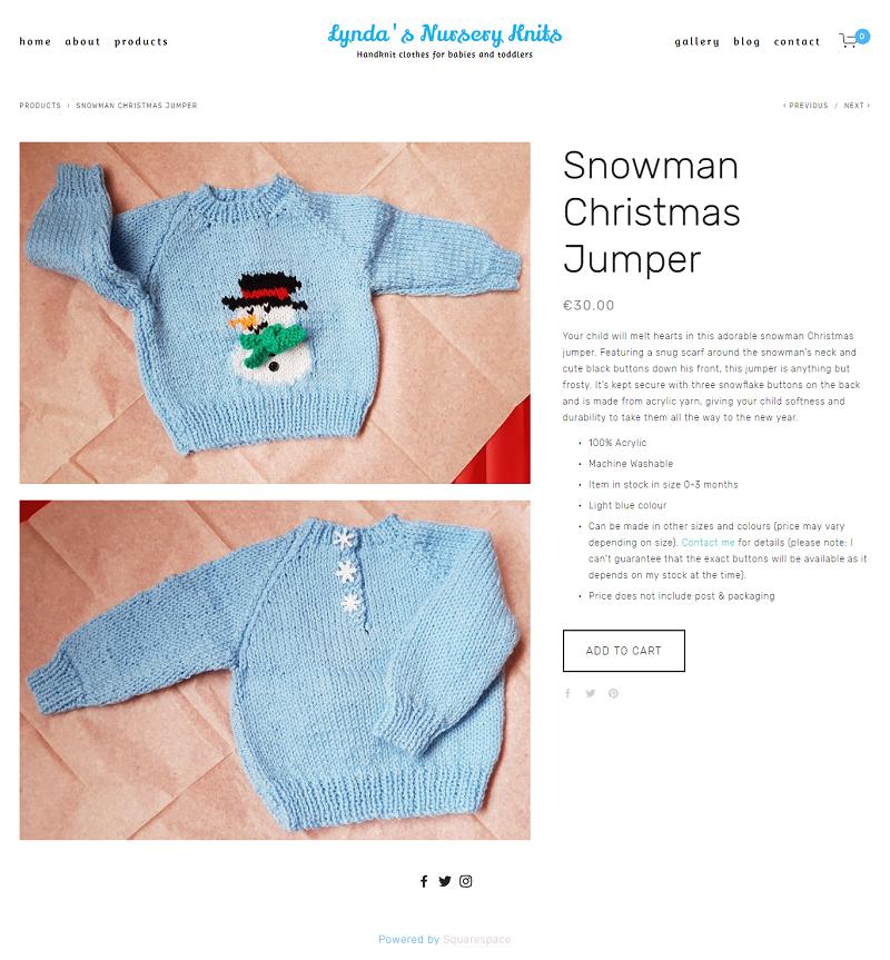 Snowman Christmas Jumper -