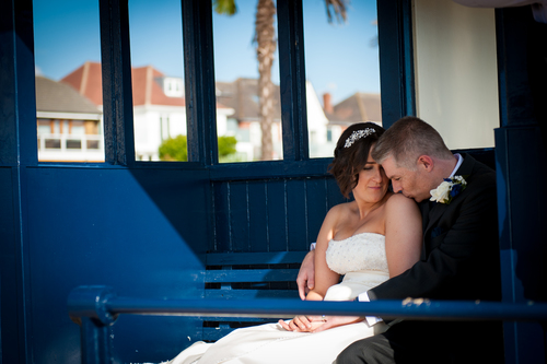 """We absolutely love the photos. Don't think I will ever get bored of looking at them. Can't thank you enough!""  — Sarah + David, Roslin Beach Hotel, Southend"