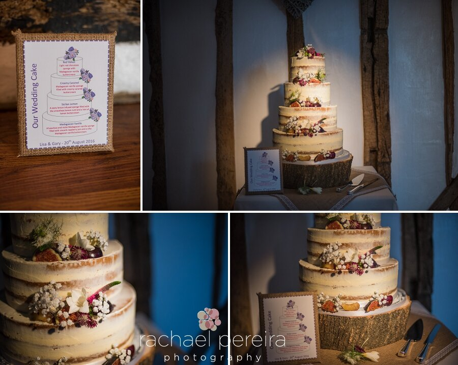This beautiful cake by Heart and Soul Cakes was made up of different flavoured layers.