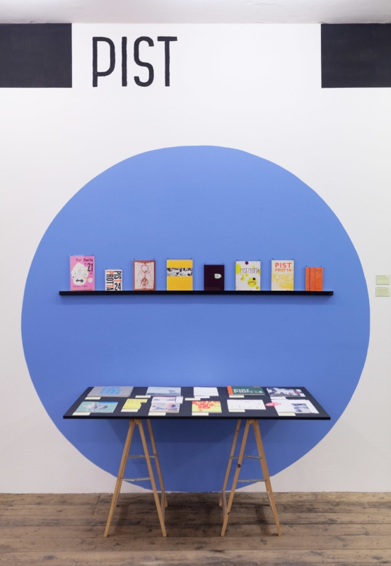 Pist Protta was invited to exhibit at New Shelter Plan in 2014, where the entire production of 74 issues (until then) were exhibited. Photo by Johan Rosenmunthe.
