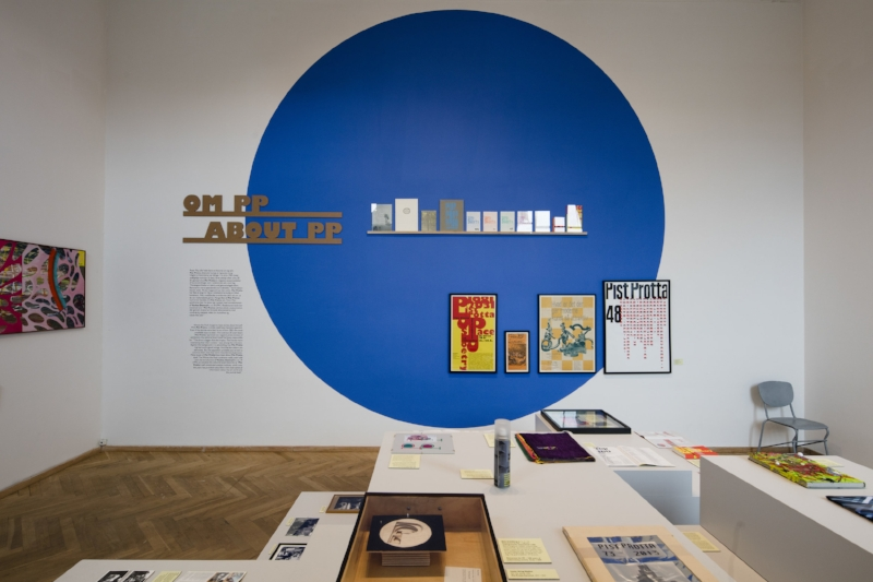 In 2016 the complete history of was exhibited at Charlottenborg in Museum Pist Protta where the editions were presented according to 6 different themes. Photo by Anders Sune Berg.