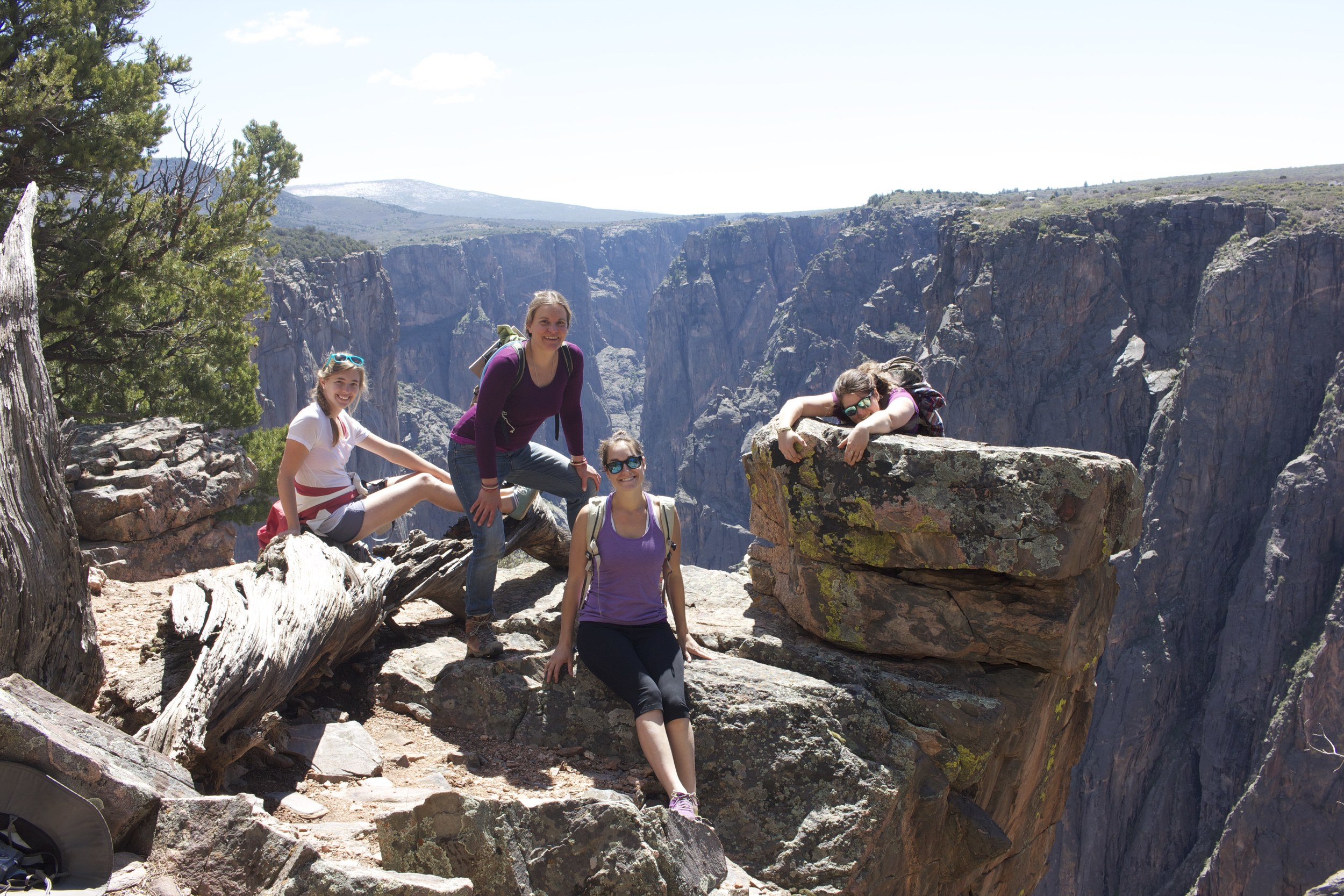 All the talented & beautiful residents on a hike in the black canyon