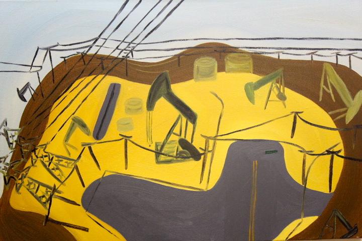 Lea Petmezas, Stucker street,  Oil on canvas, $500.JPG