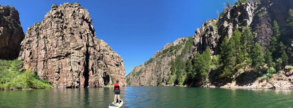 My wife and kids joined me for the last two weeks of the residency. We went standup paddle boarding in Black Canyon with fellow resident Caroline Cooper. Thanks Elsewhere for welcoming my family.