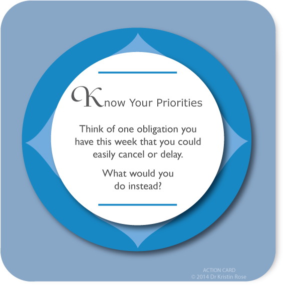 Know Your Priorities - Action Card Blog - Dr. Kristin Rose