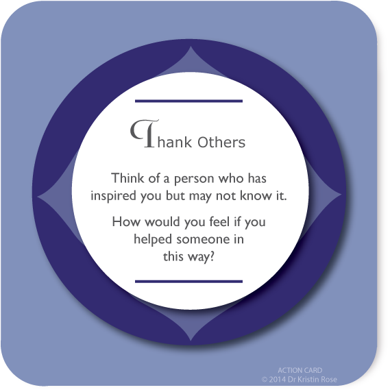 Thank Others - Action Card Blog - Dr. Kristin Rose
