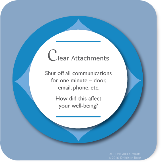 Clear Attachments - Action Card at Work - Dr. Kristin Rose