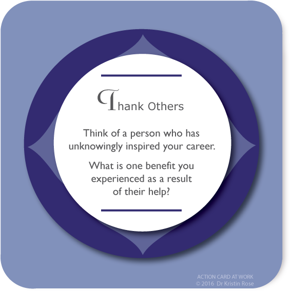 Thank Others - Action Card at Work - Dr. Kristin Rose