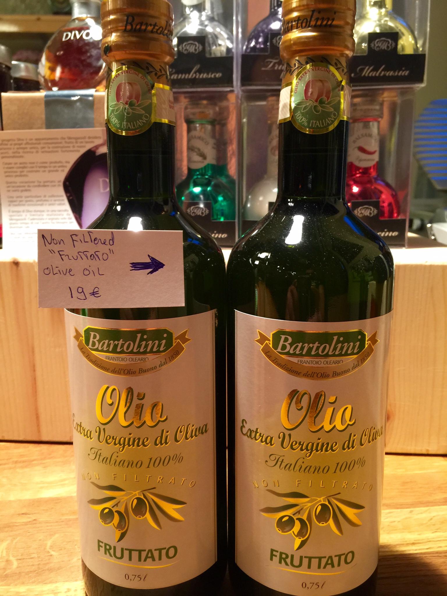 """Fruttato"" non filtered extra virgin olive oil"