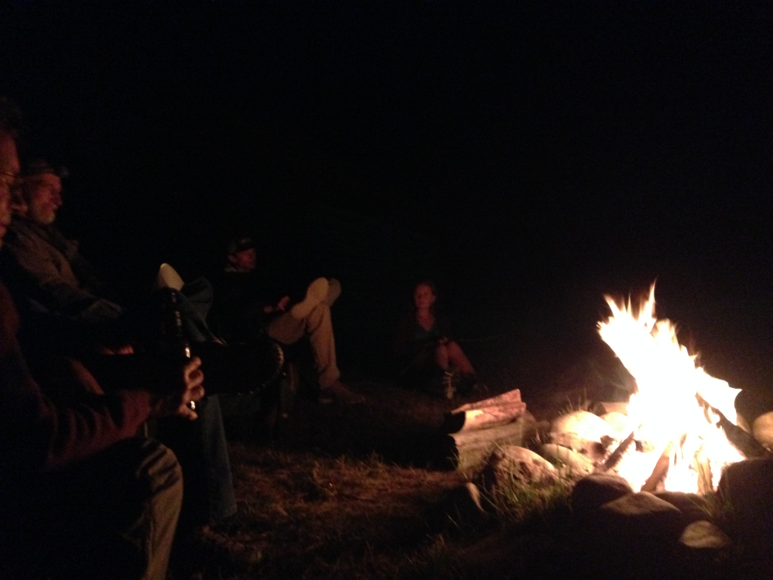 Crackling fire and a clear night in Big Sky Country.