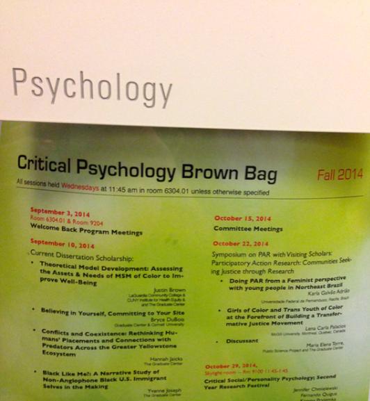 PsychologyBrownBagSchedule