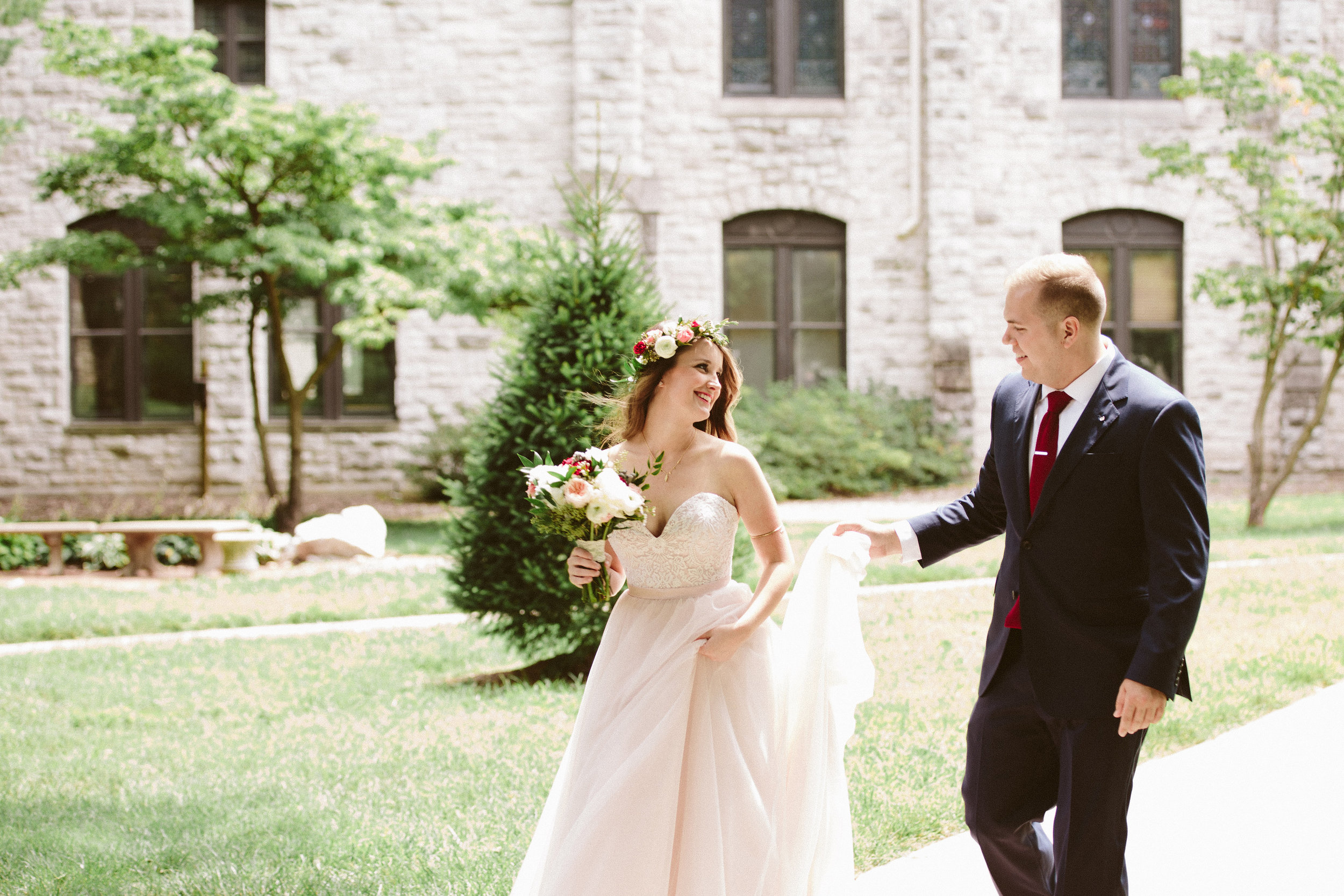 wedding at drury stone chapel