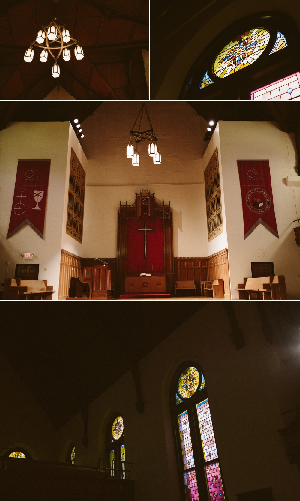 drury chapel interior - stained glass windows