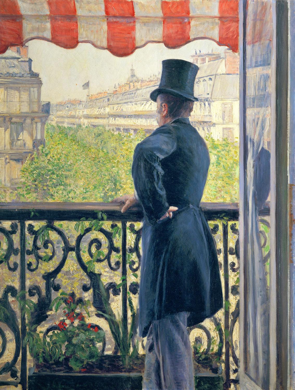 Man on a Balcony, Boulevard Haussmann