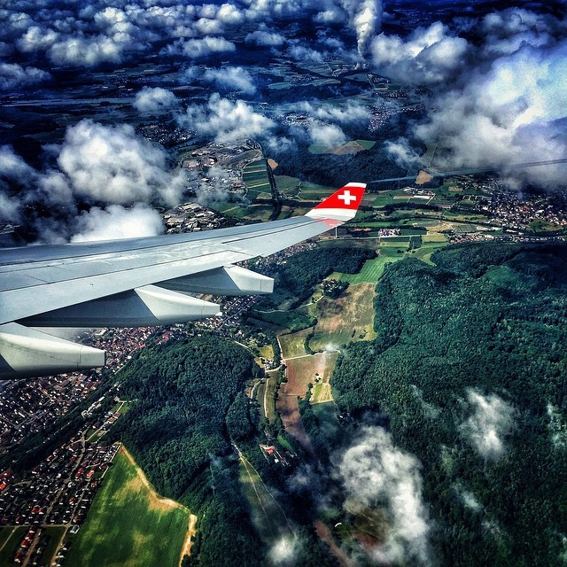 Earlier this week. Approach into Zurich. #ZRH ✈️