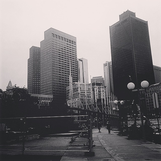 #Boston is looking a bit Gotham-esque this morning. (at Boston, Massachusetts)
