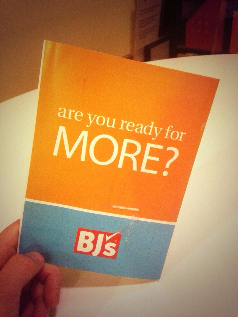"""Are you ready for more BJs?"""