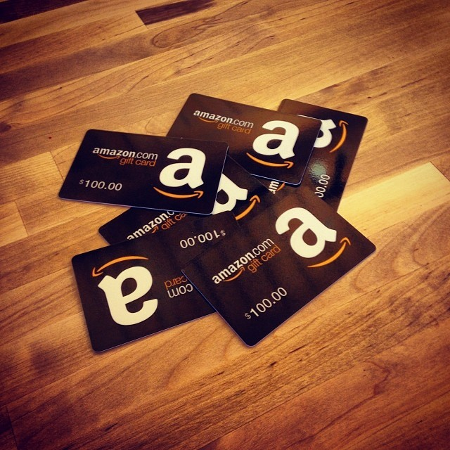 When you convert Amex points to Amazon gift cards, they send a pile of actual physical cards in the mail.