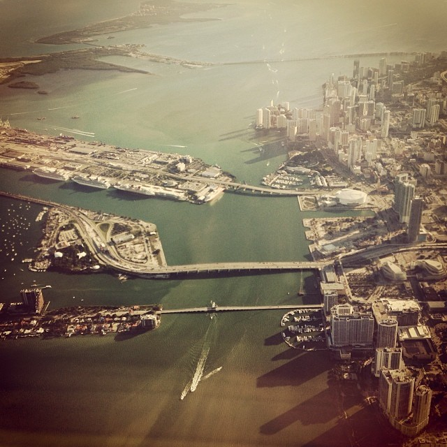 Miami from above. See ya next fall.