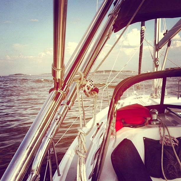 Beautiful night for sailing. (at Boston Harbor)