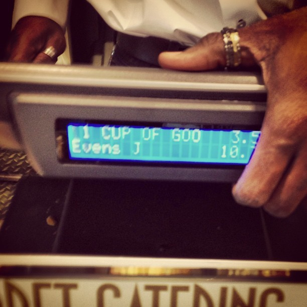 """When you get a """"Cup of Goodness at Pret a Manger, the POS display shows """"Cup of Goo"""" as your purchased item. (at Pret A Manger)"""
